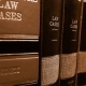 Collection of Law books in brown leathor