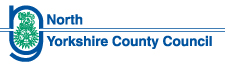 North Yorkshire County Council logo blue and green on white background