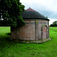 Old Ice house renovated round building Bilton in Ainsty