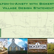 Village Design Statement composite image with places of interest and a map