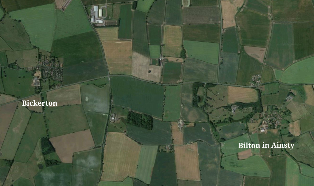 Bilton in Ainsty with Bickerton aerial view
